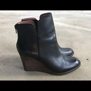 Lucky Brand Yolene Black Wedge Ankle Boot